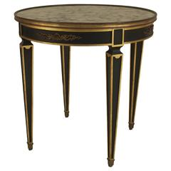 French Empire Style Gilt and Bronze-Trimmed End Table Attributed to Jansen