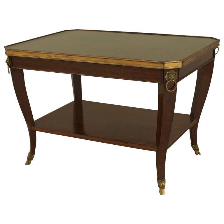 French Regencey Style Mahogany Coffee Table, by Jansen For Sale