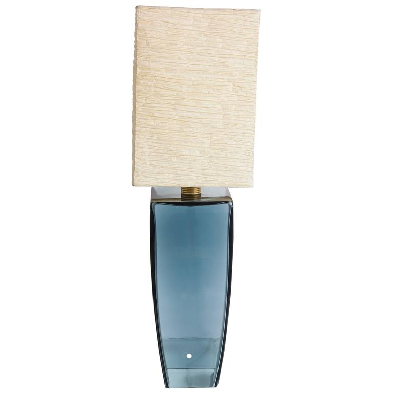 "SALE! SALE! AZUL BLUE  1Murano single production  ""Artisan""  table lamp For Sale"