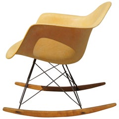 Early Rope-Edge Fiberglass Rocker by Charles Eames for Zenith/Herman Miller