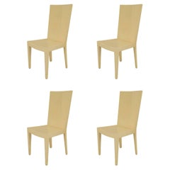 Set of Four 1980s American Parchment-Veneered Side Chairs by Karl Springer