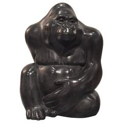British Bronze Gorilla Sculpture by Michael Cooper