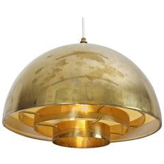1 of 2 Brass Chandelier or Pendant Light by Vereinigte Werkstätten München