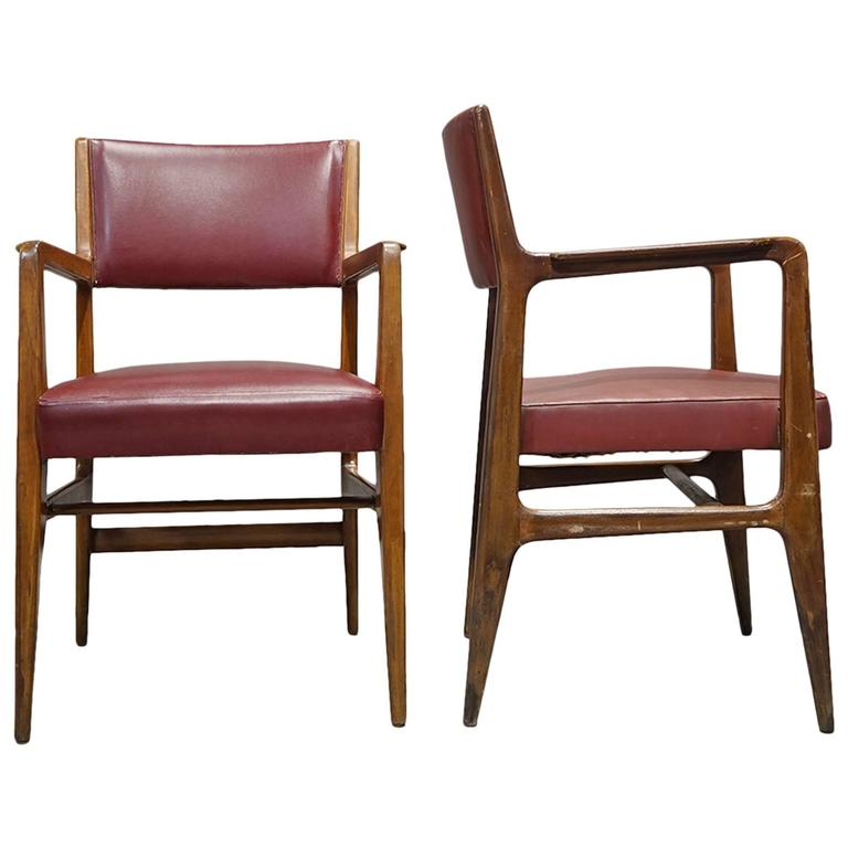 Pair of Armchairs by Gio Ponti, Cassina, 1950 For Sale