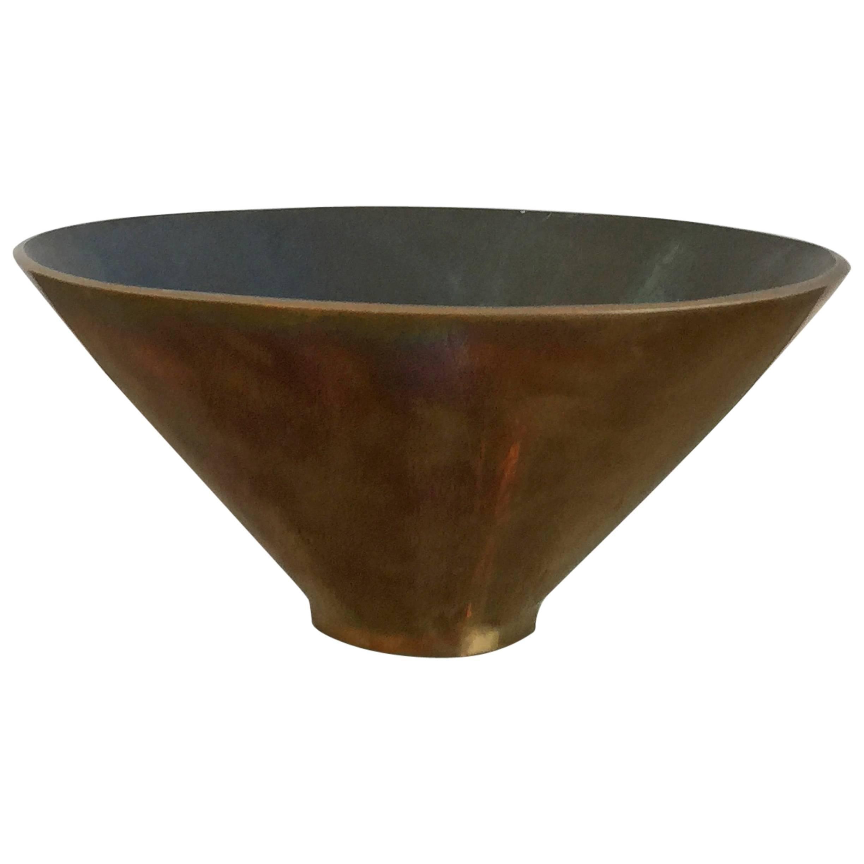 Patinated Bronze Vide Poche vessel by Monique Gerber, France, 1960s
