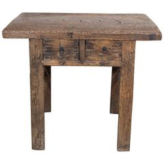 Rustic Two Drawer Table