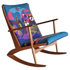 Holger Georg Jenssen Mid century Modern rocking Chair