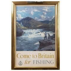 Come to Britain for Fishing, First Edition Poster by Norman Wilkinson circa 1948