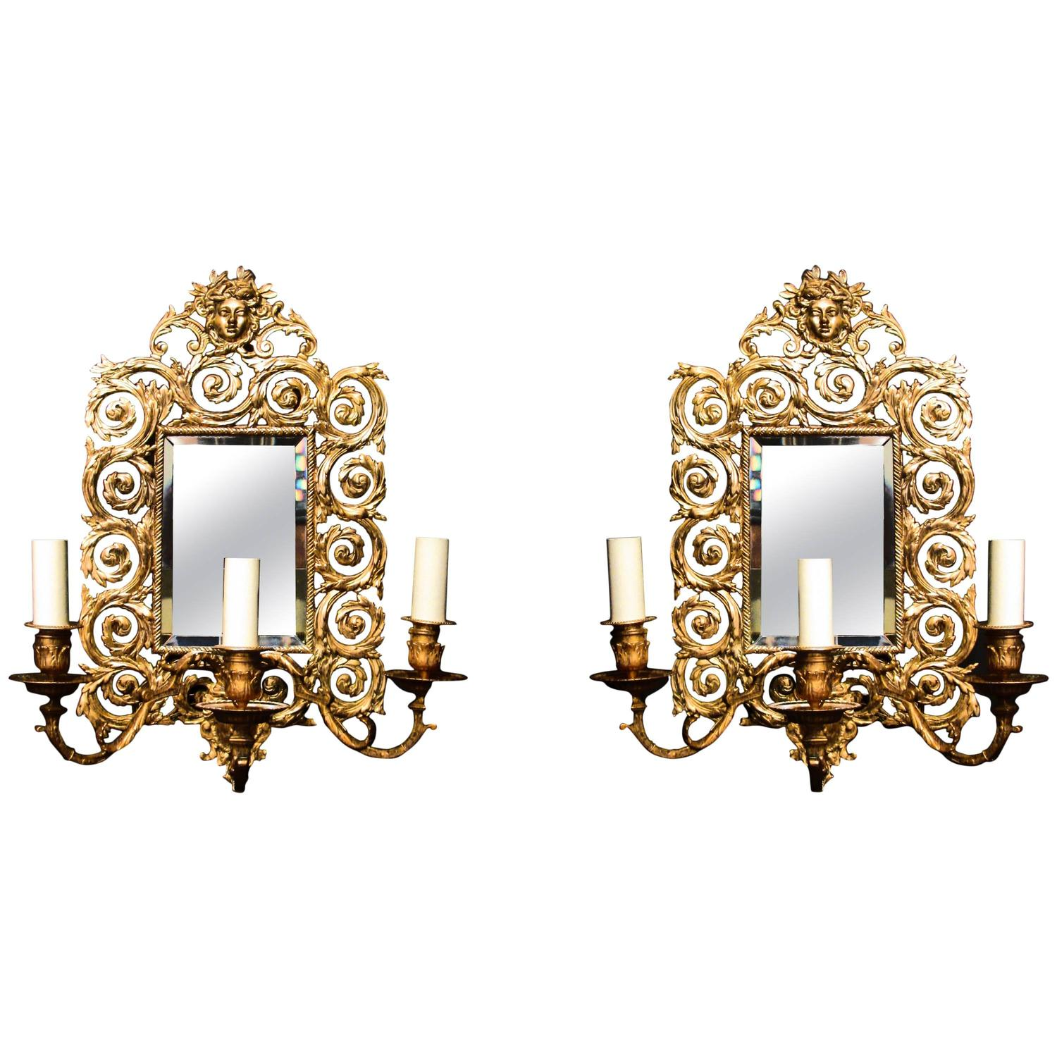 A Pair Of Victorian Brass Wall Lights At 1stdibs