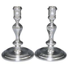 Pair Sterling Silver Candlesticks by Thomas Ducrow & Sons