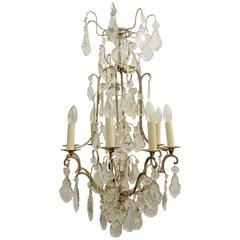 a silver plated and crystal birdcage chandelier - Birdcage Chandelier