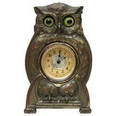 Whimsical Mechanical Owl Clock