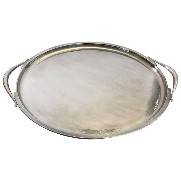 Georg Jensen Sterling Silver Harald Nielsen Tray with Handles