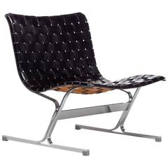 Original black leather Lounge Chair by Ross Littell