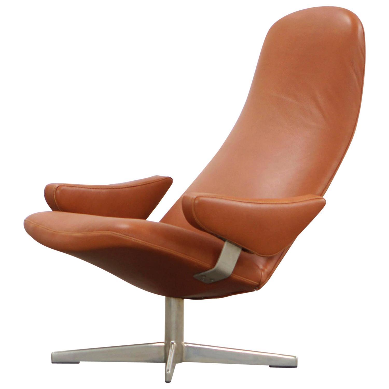 Swivel chair by Alf Svensson Dux Contourett Roto 60s For Sale at