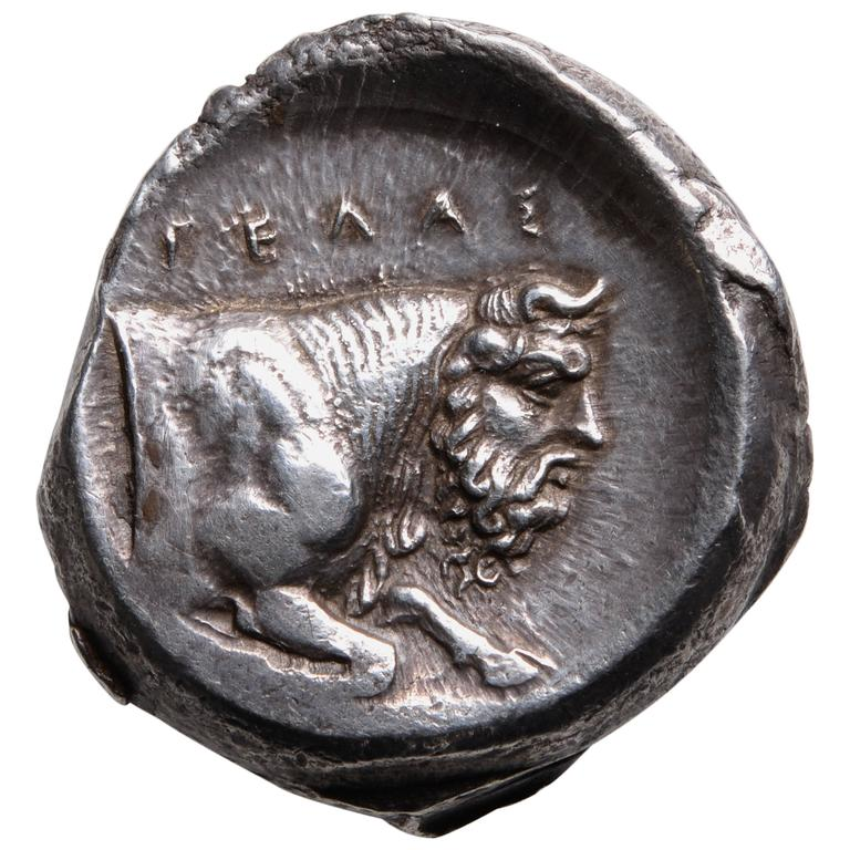 Ancient Greek Silver Tetradrachm Coin from Gela Sicily ...