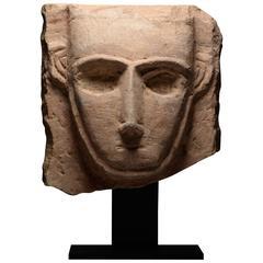 Ancient South Arabian Abstract Limestone Pillar Sculpture - 250 BC