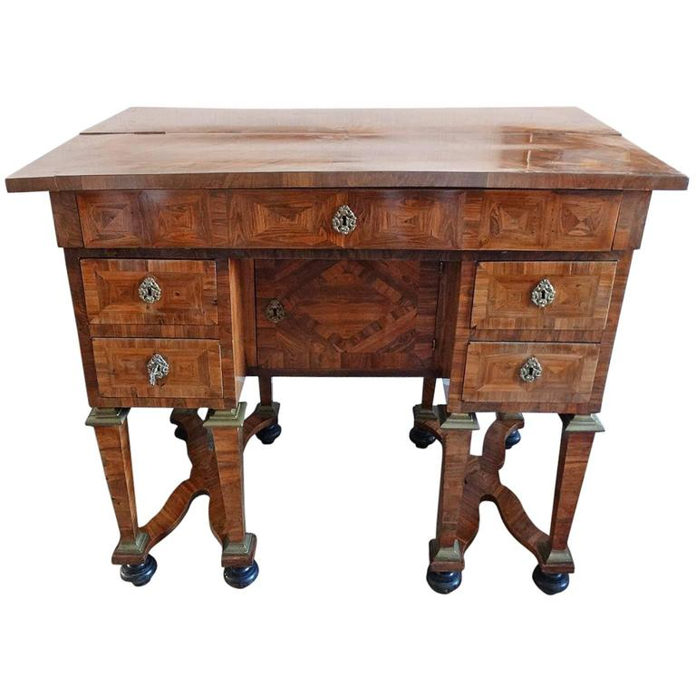 walnut marquetry bureau mazarin louis xvi for sale at 1stdibs. Black Bedroom Furniture Sets. Home Design Ideas