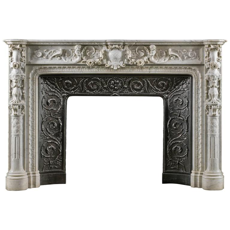 italian renaissance style antique marble fireplace mantel at 1stdibs