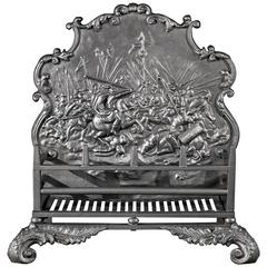 Regency Cast Iron Antique Fireplace Grate, English, circa 1830