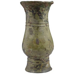 Ancient Chinese Shang Dynasty Bronze Wine Vessel Zhi, 1150 BC