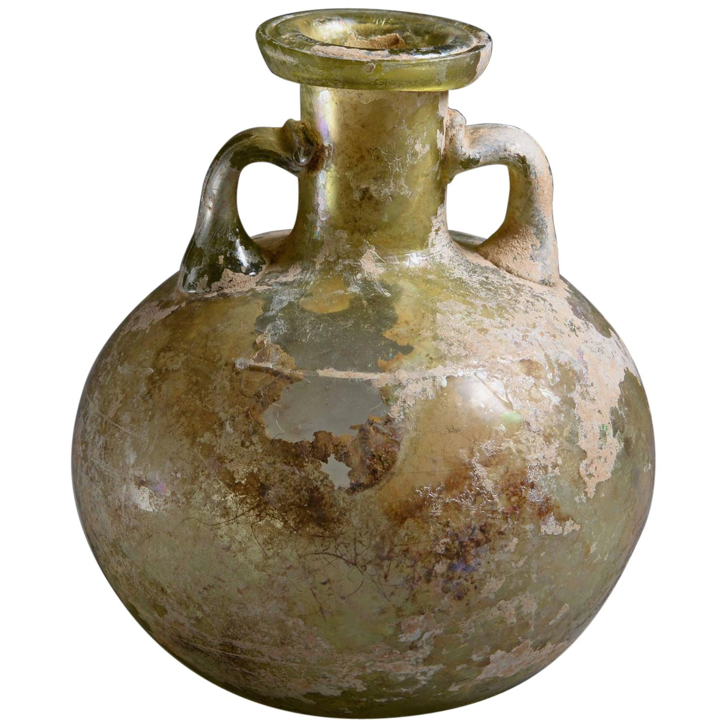 Large ancient roman shipwreck salvaged amphora 100 ad for sale at ancient roman glass aryballos oil vessel 100 ad floridaeventfo Gallery