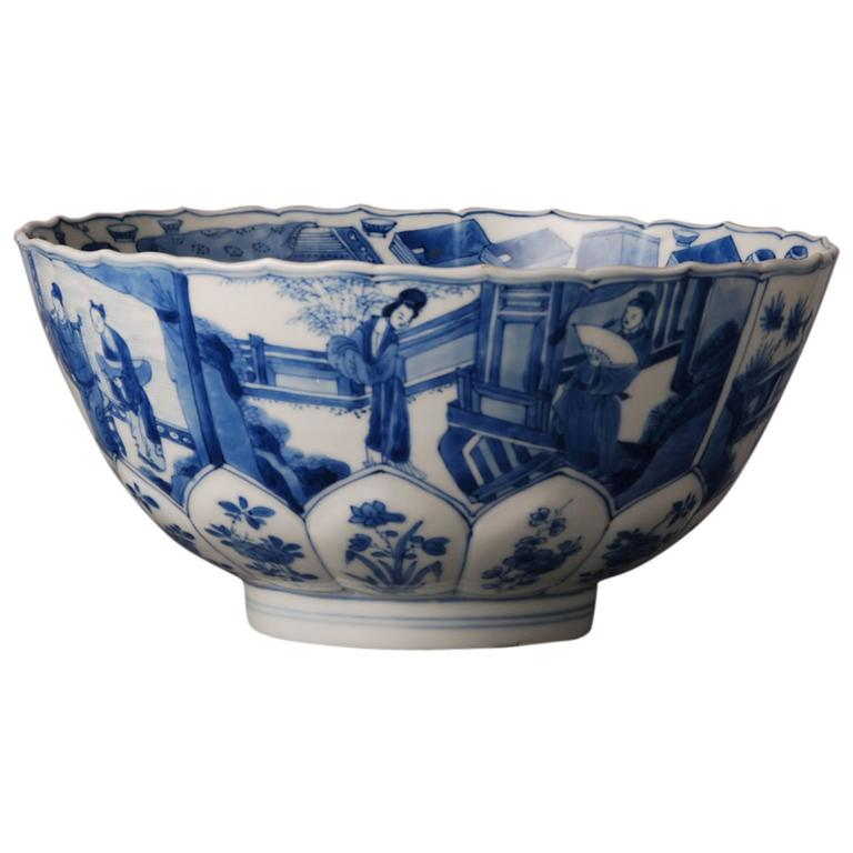 Blue And White Chinese Porcelain Bowl At 1stdibs