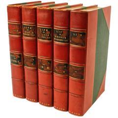 Life of George Washington by Washington Irving, Rare Five Volumes