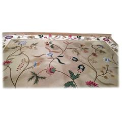 1996 Large Virgin Wool Floral Pattern Area Rug with 33 Colors