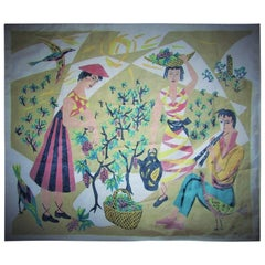 French Midcentury Tapestry by Corot Aubusson, 1960, Cubist