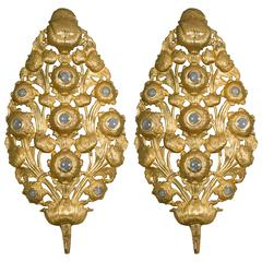 Pair of Gilt Metal Sconces