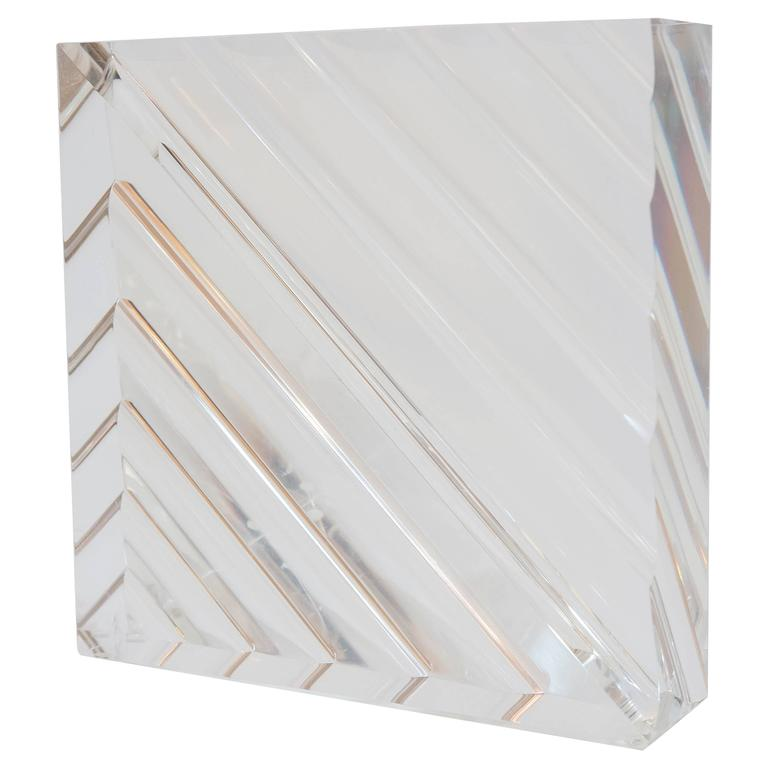 "Acrylic ""Block"" Sculpture by Alessio Tasca For Sale"