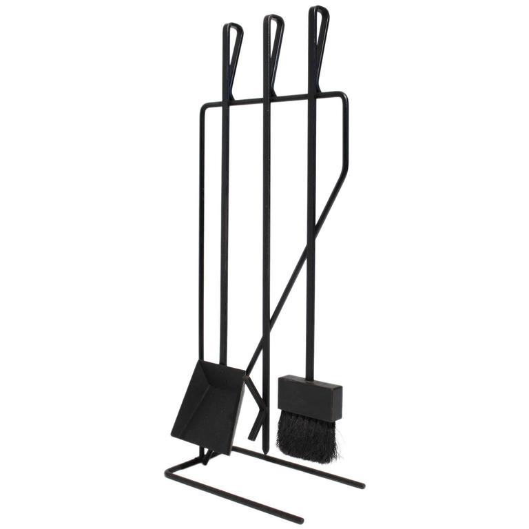 Vintage Modernist Wrought Iron Fire Tools At 1stdibs