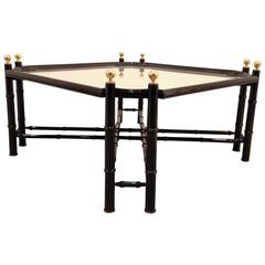 French Hollywood Regency Lacquered Wood Occasional Tray Table, France, 1970s