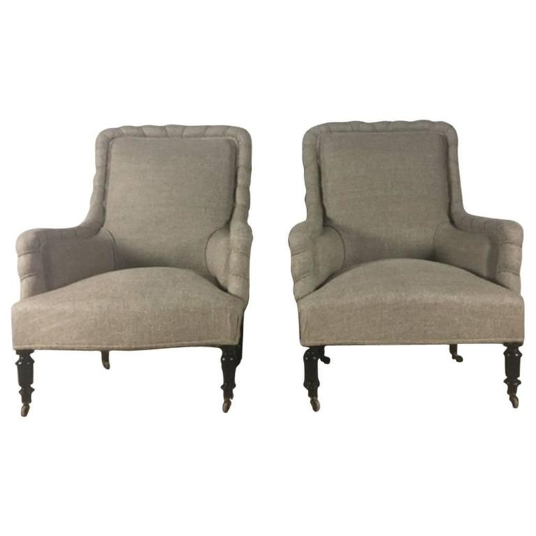 This napoleon iii club chair is no longer available - Pair Of 19th Century English Napoleon Iii Period Club
