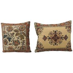 Pair of Indian Batik Linen Pillows
