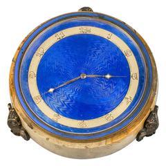 Continental Bronze and Enamel Clock, circa 1900