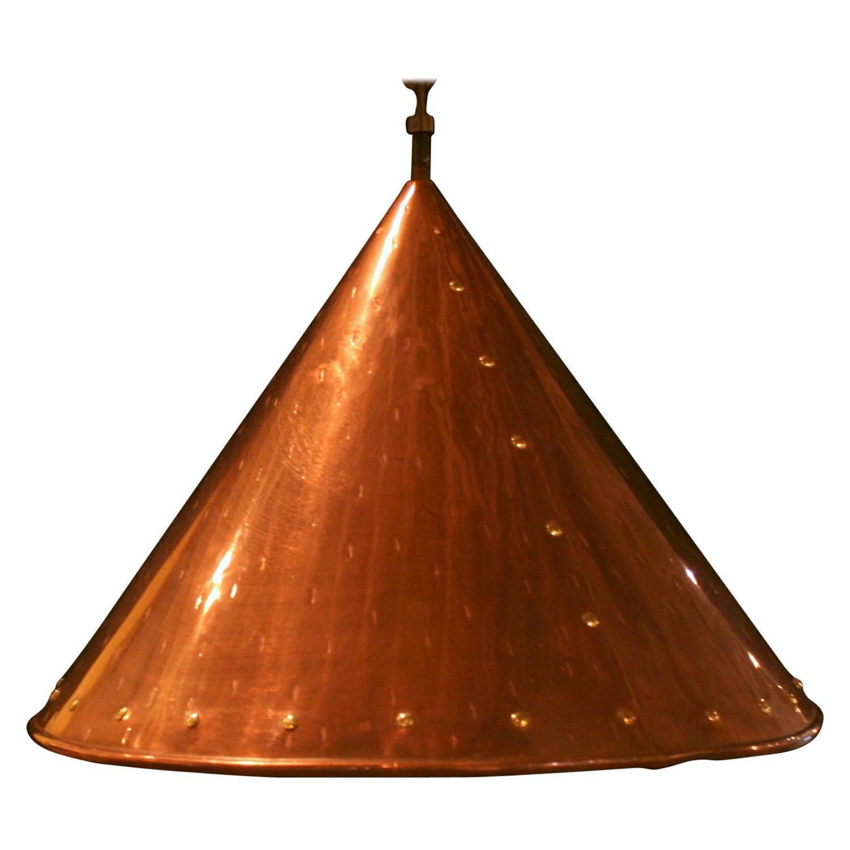 Ceiling Lights Copper : Vintage copper ceiling light at stdibs