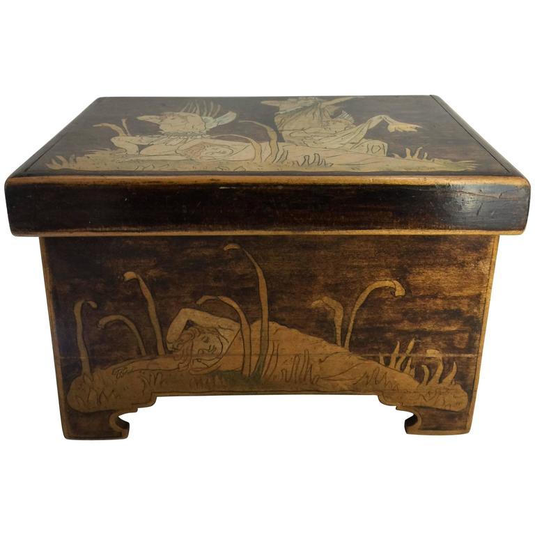 Aesthetic Movement Trinket Box, circa 1900 For Sale