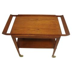 Teak Bar Cart with Removable Top Attributed to Peter Hvidt