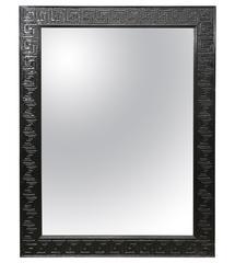 Black Lacquered Greek Key Mirror