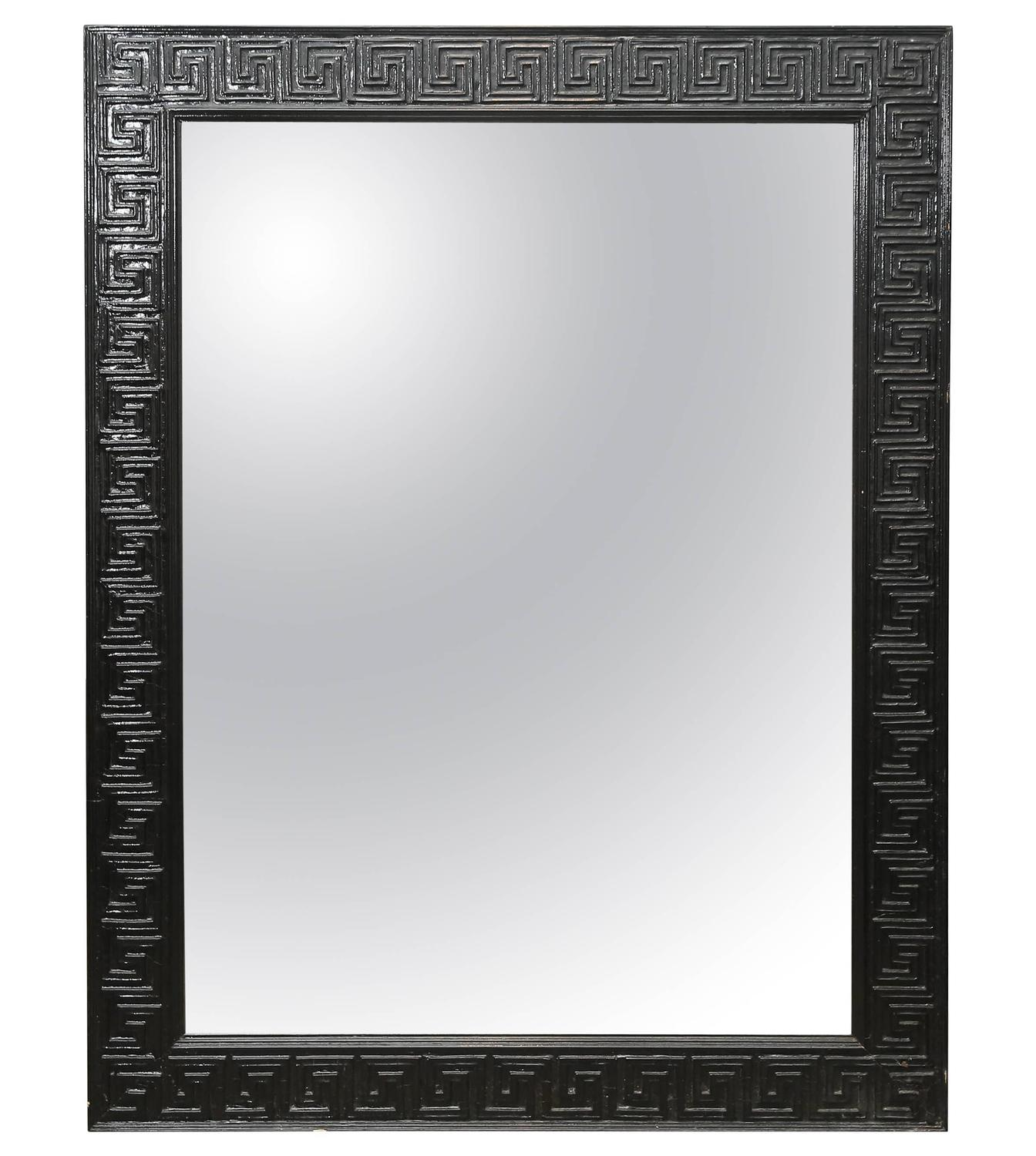 Black Lacquered Greek Key Mirror For Sale at 1stdibs : 3585793z from 1stdibs.com size 1344 x 1500 jpeg 144kB