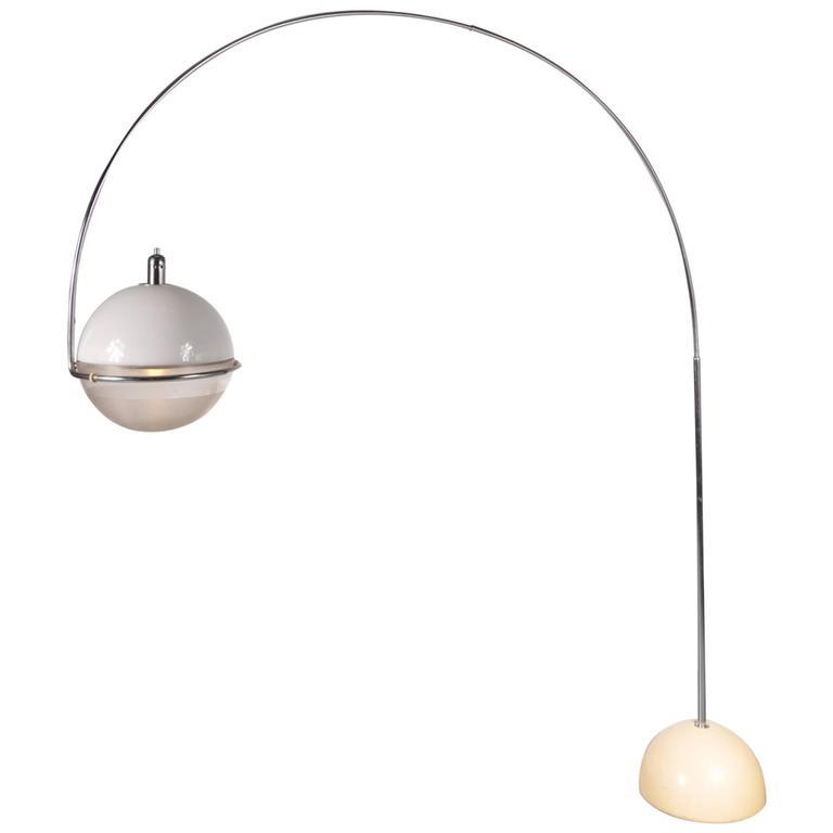 Guzzini Quot Fucos Quot Arc Lamp By Fabio Lenci Italy Circa 1960