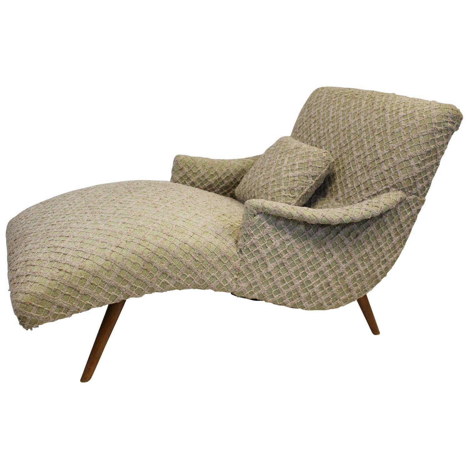 Adrian Pearsall Style Chaise Lounge Chair For Sale at 1stdibs