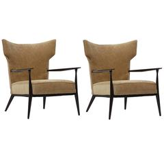 Pair of Paul McCobb Wingback Lounge Chairs