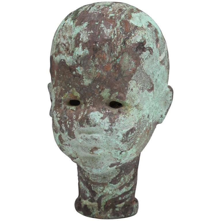 Large Copper Doll Head Mold