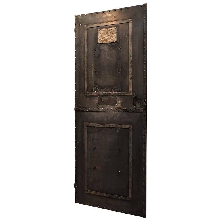 riveted iron french factory door 1900s at 1stdibs