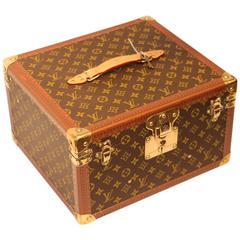 Unusual 1980s Louis Vuitton Train Case