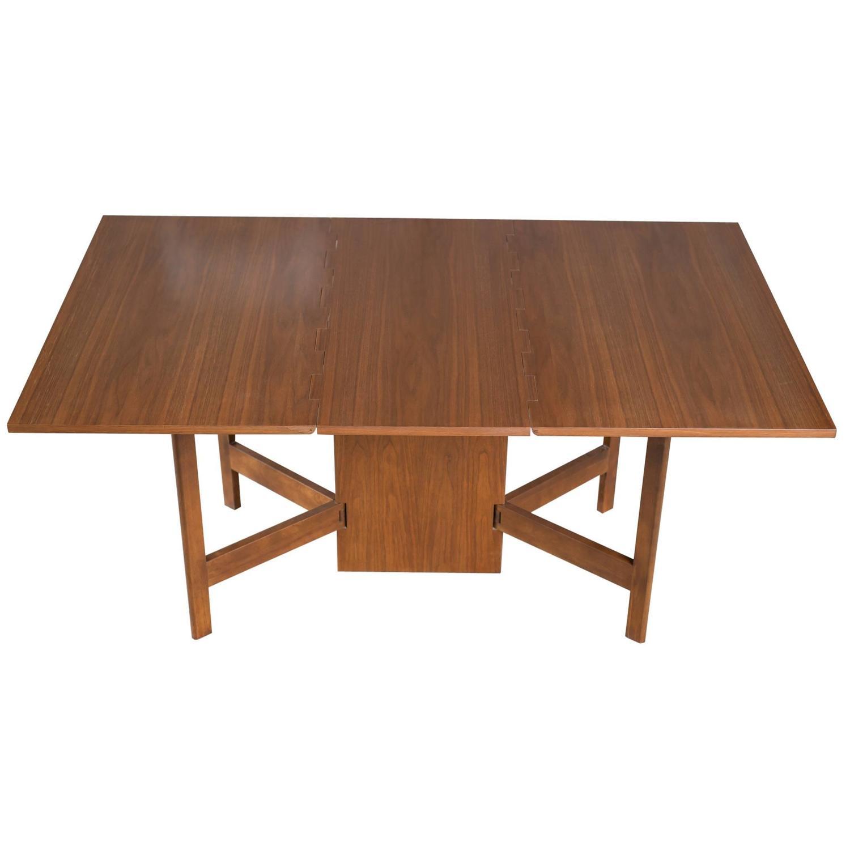 Vintage george nelson walnut gateleg dining table for for Gateleg dining table