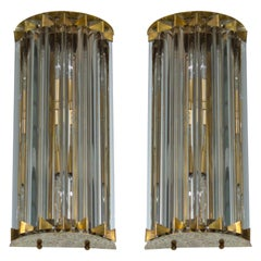 Pair of Italian Sconces in Murano Glass attributed to Camer Glass 1960s, Italy